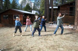 Laurie, Barb, Sue, Pamela and Scott, Brush Knee-Idyllwild, California