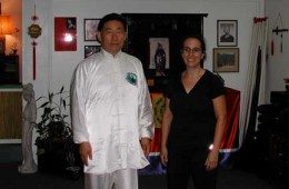 Trudy with Grandmaster Chen, Xiaowang-Taoist Sanctuary, San Diego, California