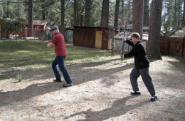 James and Laurie, Hit Tiger at Right-Idyllwild, California