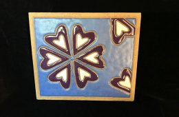 """Many Hearts Are One (Wall Hanging) – 12.5""""x10.75""""x0.25"""" – $225"""